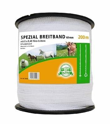 Göbel Weidezaun Spezial Breitband 200m 20mm 6 Niroleiter 2,75 Ohm/m UV Stabilisiert von Göbel bei Du und dein Garten