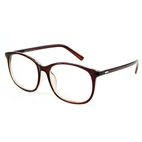 Cyxus Blaulicht-Blockierbrille für Anti-Augen-Kopfschmerzen, Retro Brillen, Unisex (Frauen/Männer) (Braun)