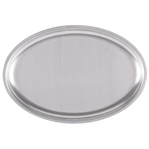 Royal Industries Sizzle Platter Oval, 11-3/4'' x 8'', Stainless Steel by Royal Industries