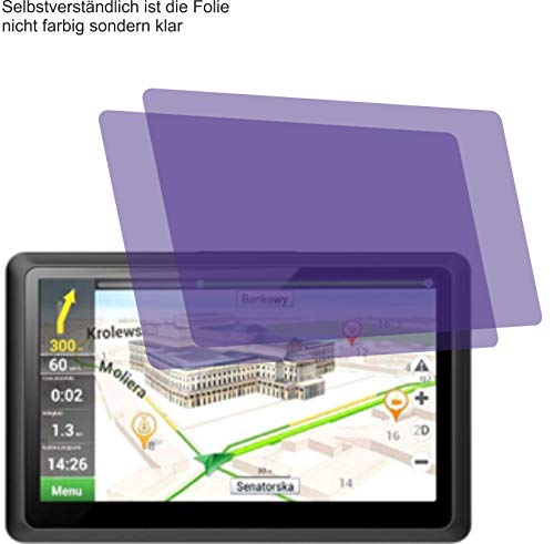 4ProTec 2X ANTIREFLEX matt Schutzfolie für Kainuoa 5 Zoll Navi Displayschutzfolie Bildschirmschutzfolie Schutzhülle Displayschutz Displayfolie Folie