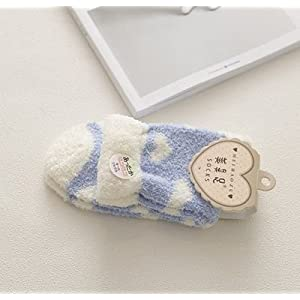 Apioffer Coral SAMT Liebe Plus Velvet Boden Socken in Rohr Socken zu warm schlafen Socken 1 Paar