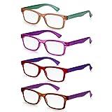 Read Optics Gafas de Lectura Vista Presbicia Hombre/Mujer de Policarbonato - color mezclado Wayfarer Vintage. Resistentes, Ligeras, Flexibles. Lentes Ópticas Graduadas desde +1,5 hasta +2,5 Dioptrías