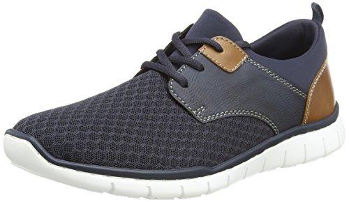 Rieker Herren B8751 Sneaker Blau (Navy/Lake/Amaretto) 43 EU