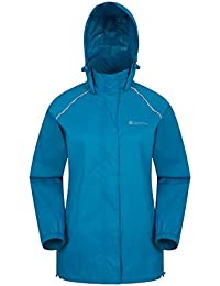 Mountain Warehouse Pakka Mens Waterproof Packable Jacket - Foldaway Hood Jacket, High Vis Mens Coat, Lightweight Rain Jacket - For Cycling, Walking, Travelling