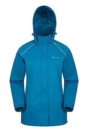 Mountain Warehouse Pakka Mens Waterproof Packable Jacket - Foldaway Hood Jacket, High Vis Mens Coat, Lightweight Rain Jacket - for Cycling, Walking, Travelling Dark Teal 6