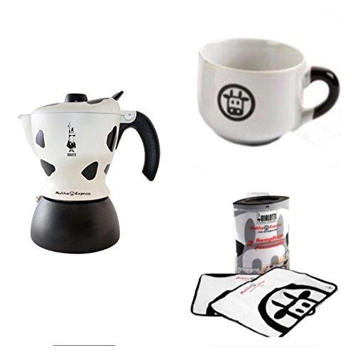 Bialetti Mukka Express 1-Cup Cappuccino Maker + One Exclusive Cup For Cappuccino + 2 Exclusive Cotton Placemats! [ Italian Import ] - Bialetti Cappuccino-maker