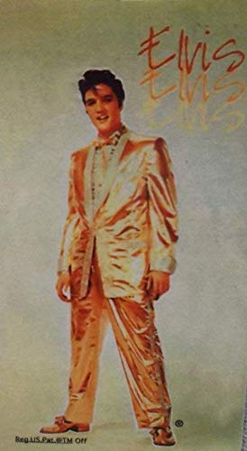 Magnet ORIG. US Import Elvis Presley Gold. Anzug 9 x 5 x 0,1 cm Platte King of Rock`n Roll ()