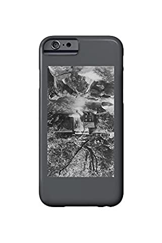 Pulga, California - Exterior View of Mayaro Lodge and Trout Ponds (iPhone 6 Cell Phone Case, Slim Barely