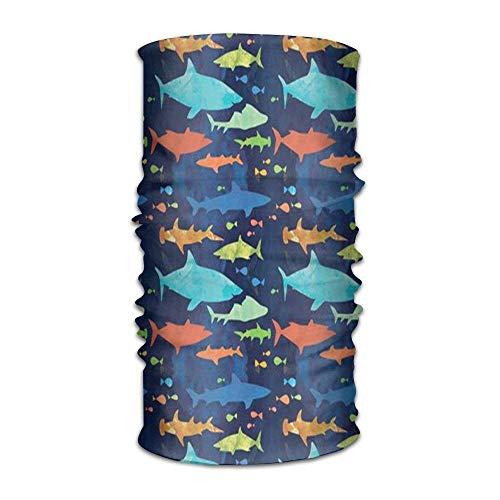 bands Shark PatternUnisex Sport Scarf Neck Outdoor Scarf Headbands Bandana Outdoor Sweatband Headwear ()