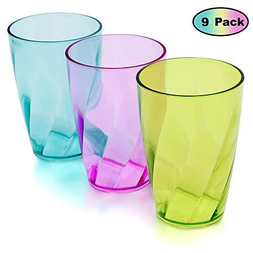 Vasos Plástico coloreado 450 ml - Set 9 Reutilizables