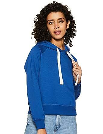 Amazon Brand - Symbol Women's Sweatshirt (AW18WNSSW06_Cobalt Blue_X-Small)