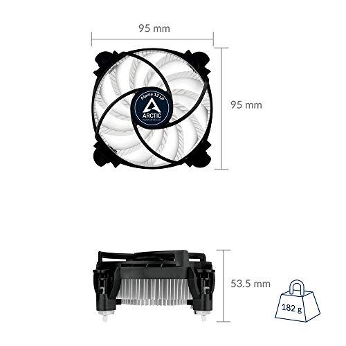 ARCTIC Alpine 12 LP - CPU kühler für Intel Sockeln, durch 92 mm PWM Lüfter bis zu 75 Watt Kühlleistung - Mit voraufgetragener MX-2 Wärmeleitpaste - Einfachen Montagesystems