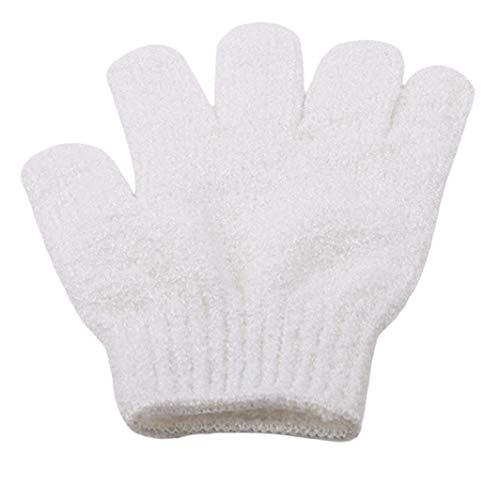 SHIJIAN Peelinghandschuhe Badefinger Handschuhe Kinderbadetuch Color Soft Bubble Badetuch Badehandschuh, weiß
