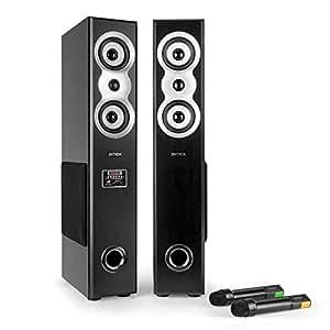 Intex IT-12800 SUF 84W Noir haut-parleur - hauts-parleurs (2.0 canaux, Avec fil, RCA, 84 W, 40 - 20000 Hz, Noir)