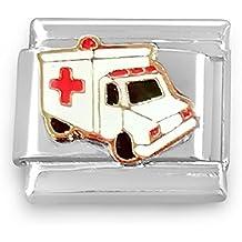 Ambulance Charm italien classique Compatible avec Nomination \u0026 Zoppini  Bracelet à breloques