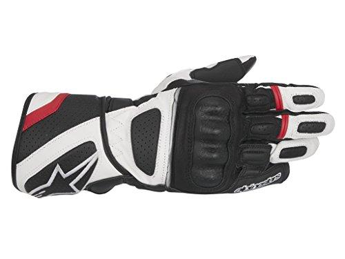 SP Z Drystar Handschuh schwarz/weiß/rot M - Motorradhandschuhe (Stretch-spitzen Handgelenk Handschuhe)