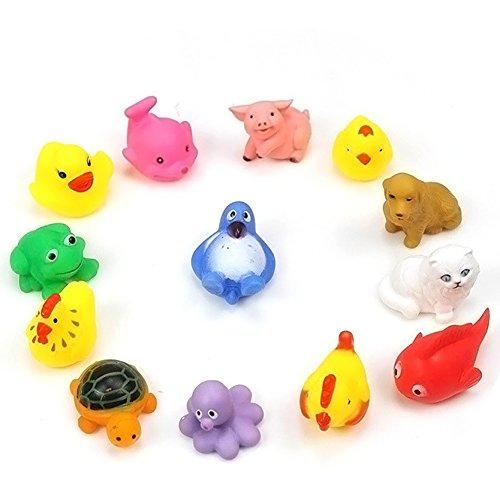 vanpower 13pcs niedliche, weiche Gummi-Float sqeeze Waschen für Baby-Spielzeug für Tiere, Spiel