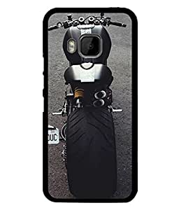 Fuson Designer Back Case Cover for HTC One M9 :: HTC One M9S :: HTC M9 (Motorcycle Racing Road rash Big wheels Yamaha)