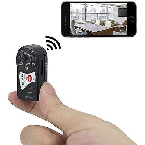Mini Cámara Portátil IP P2PWiFi – Mini Cámara de Video Digital Espía Con Detector de Movimiento y Función de Visión Nocturna para iPhone/Teléfonos Android/ iPad/ PC + Tarjeta Micro SD de 8GB