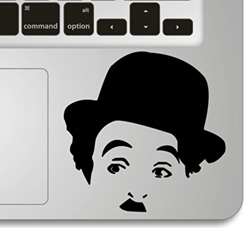 Vati Foglie rimovibile Humor Handmade parziale Art Skin Cool Design Vinile per Trackpad tastiera del Apple Macbook Pro Air Mac portatile Charles Chaplin Trackpad Keypad