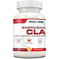 CLA | High Potency Natural Weight Loss Softgels | Increase Lean Muscle Mass | Non-Stimulating, Non-GMO & Gluten-Free | 120 Count | Made in the UK by Iron Ore Health
