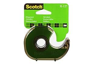 Scotch 15720 Dispenser Ricaricabile da Tavolo, 19 mm x 33 m, Grigio Fumo