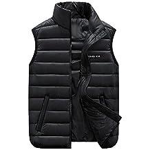 GXS Talla grande ropa de hombre. Edredón, abrigo de chaleco de algodón. Chalecos Chaleco casual de hombre , black , 4xl