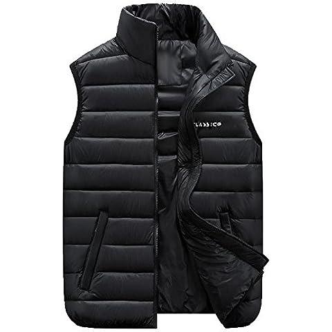 ZY Taglie forti abbigliamento maschile. Copriletto, cappotto di maglia di cotone. Gilet gilet casual uomo , black , 4xl