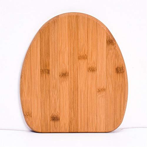 RNGNB Bambus Schneidebrett Küche, Anti-Rutsch-Schneidebrett Holz Metzger Block Food Slice Cut Hackklotz Käsebrett Cutting Board -