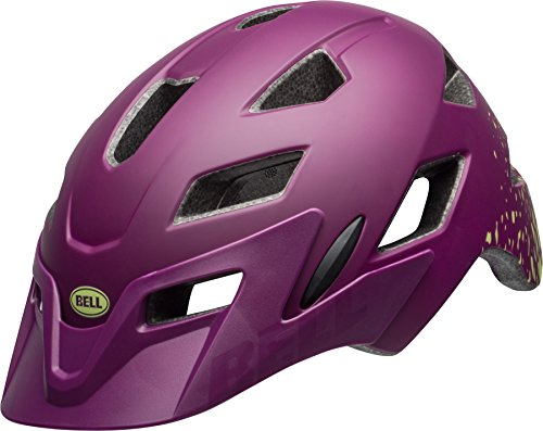 Bell Sidetrack Youth Jugend Fahrrad Helm Gr. 50-57cm lila/gelb 2018