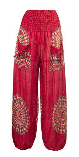 Coline - Pantalon femme aladin Rouge