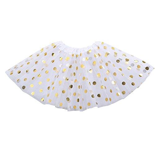 MAYOGO Kinder Tüllrock 50er Kurz Tutu Ballet Tanzkleid Blumenmuster Unterkleid Cosplay Crinoline Petticoat für Rockabilly Kleid Karneval Party ()