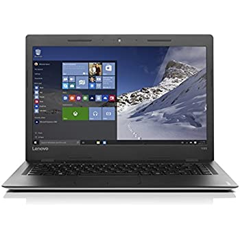 Lenovo ideapad 100S 35,56cm (14 Zoll HD Glare) Slim Notebook (Intel Pentium N3710 Quad-Core, 2,56GHz, 4GB RAM, 256GB SSD, Windows 10 Home) silber