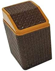 Sindhu Small Table Dustbin/Desk Dustbin Skinny Sleek & Stylish Bathroom, Table Trash, Small Garbage Can Wastebasket for Narrow Spaces at Home or Office