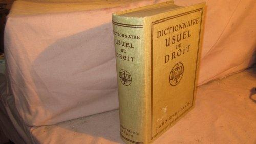 Dictionnaire usuel de droit, par Max Legrand
