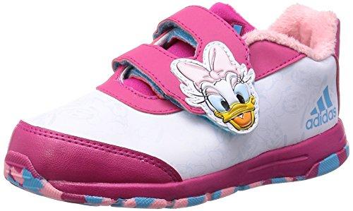 Disney Mädchen-Sportschuhe (Kleinkindergröße) Classic Daisy Duck, weiß-pink -