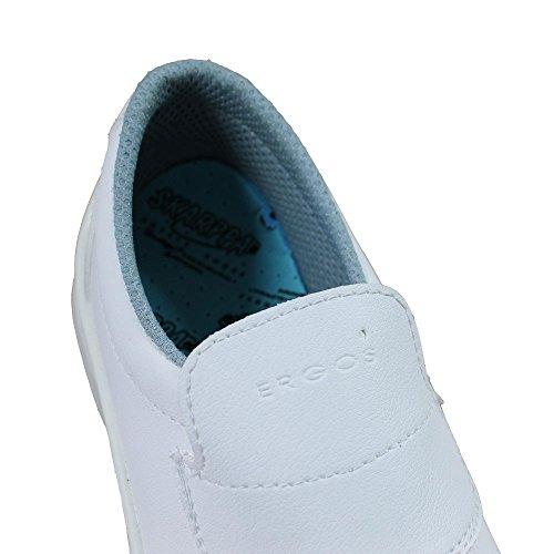 Sicurezza Ergos S2 SRC scarpe, lavoro scarpe, cuoco scarpe, labor scarpe, piatto B-Ware Bianco (bianco)
