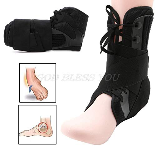 Sports Ankle Brace Compression Support Sleeve Ankle Strap S/M/L Size Ankle Brace Support Sports Adjustable Ankle Straps Sports Support Adjustable Foot Orthosis Stabilizer Protector -