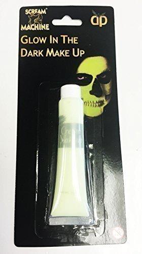 n Im Dunklen Farbe Make-Up Gesicht Körper Farbe Skelett Kostüm (Halloween-make-up-skelett Gesicht)
