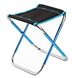 BLEVET Aluminium Mini Portable Klappstuhl für BBQ Wandern Camping Picknick Reise MZ054 (Black)