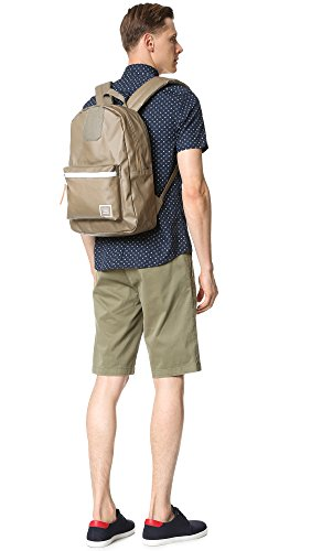 Herschel Supply Unisex Settlement Studio Zaino in nylon verde piombo Lead Green-White-Lead Green Mesh