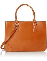 6f44fb0e23 CTM Borsa Donna Elegante Classica, Stile Italiano, 36x26x18cm, Vera pelle  100% Made