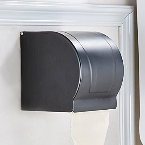 Velimax Brass Material Toilet Paper Holder Dispenser Tissue Box Container Wall Mounted Brass Oil Rubbed Bronze Finish