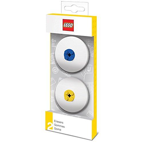 Lego Radiergummis blau/gelb