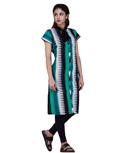 Unnati Silks Women Sloka Weaves Multicolor Pure Handloom Pochampally Cotton Kurta
