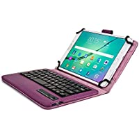 Samsung Galaxy Tab 3 Lite 7.0 Custodia con Tastiera, COOPER INFINITE EXECUTIVE Custodia a libro Per Il Trasporto di Tablet con Tastiera Bluetooth QWERTY Wireless Removibile con supporto (Viola)