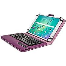 Custodia Tablet 7 - 8 Pollici Tastiera Wireless, Cover Protettiva COOPER INFINITE EXECUTIVE 2-IN-1 Tastiera Bluetooth Magnetica Antiurto Windows Android A Libro Pelle Viaggio con Supporto (Blu)