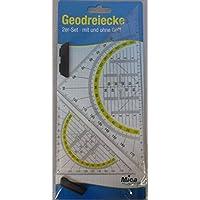 Mica College Geodreiecke - 2er Set - 14 cm und 22 cm