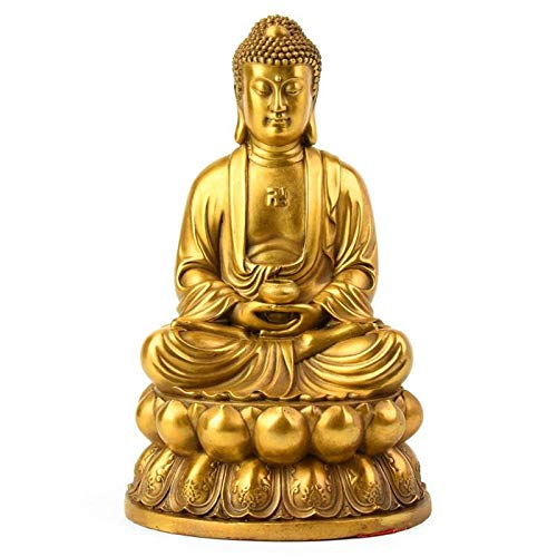 Decorativa Interior Cobre Puro Sakyamuni Buddha Buddha Amitabha Buddha, Trompeta Especial Alta 10 * 6Cm