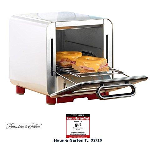 Rosenstein & Söhne Kleinbackofen: Kompakter Klein-Backofen für belegten Toast u.v.m, 1.000 Watt, 8 l (Mini Backöfen)